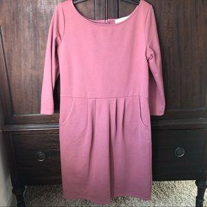 Pink mini dress with pockets
